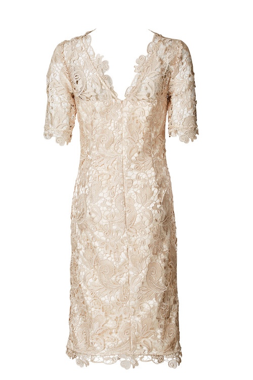 Kaleidoscope Champagne Lace Dress