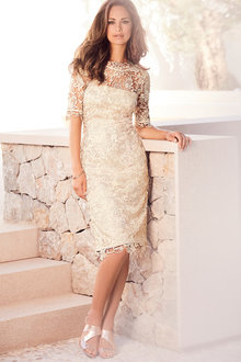 Kaleidoscope Champagne Lace Dress - 195722