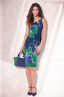 Kaleidoscope Print Dress - 195726