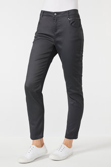 Emerge Zip Detail Coated Jean - 195727