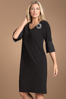 Plus Size - Sara Shift Sleeve Detail Dress