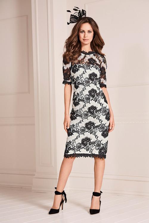 Kaleidoscope Lace Shift Dress