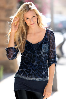 Heine Print and Sequin Top