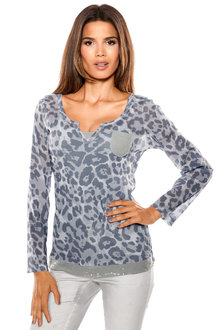 Heine Print and Sequin Top - 195756