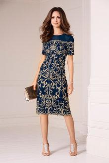 Kaleidoscope Embroidered Bardot Dress