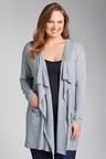 Plus Size - Sara Waterfall Cardi