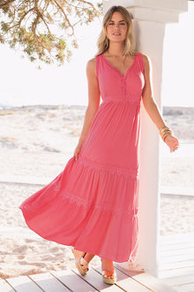 European Collection Tiered Maxi Dress
