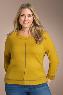 Plus Size - Sara Metallic Trim Sweater