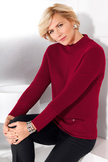 Capture European Textured Pullover