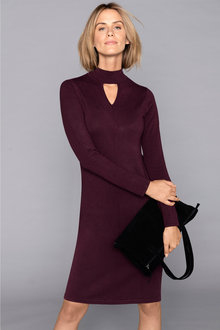 Capture Knitted Keyhole Neck Dress - 195845
