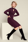 Capture Knitted Keyhole Neck Dress