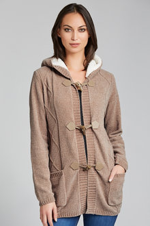 Capture Sherpa Trim Cardigan