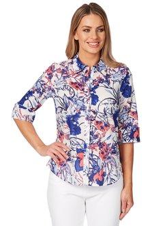 Noni B Bianca Printed Shirt - 195884
