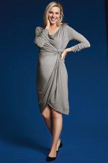 Next Grey Maternity Knot Side Dress