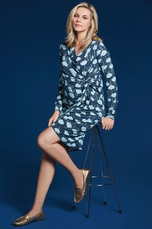 Next Printed Maternity Knot Side Dress