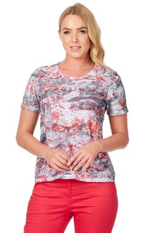 Noni B Irene Printed Top