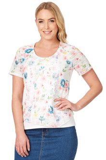 Noni B Gloria Printed Top