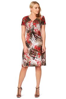 Noni B Tina Printed Dress
