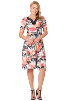 Noni B Shannon Printed Dress - 195983