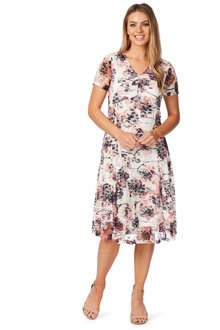 Noni B Jackie Printed Dress