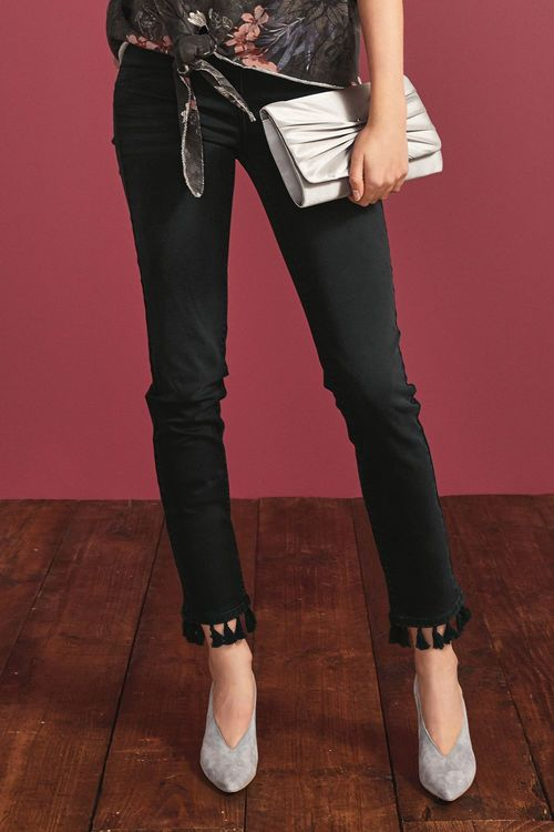 Next Tassel Hem Straight Jeans