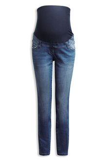 Next Maternity Straight Leg Over The Bump Jeans
