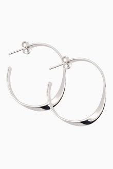 Next Medium Organic Hoop Earrings