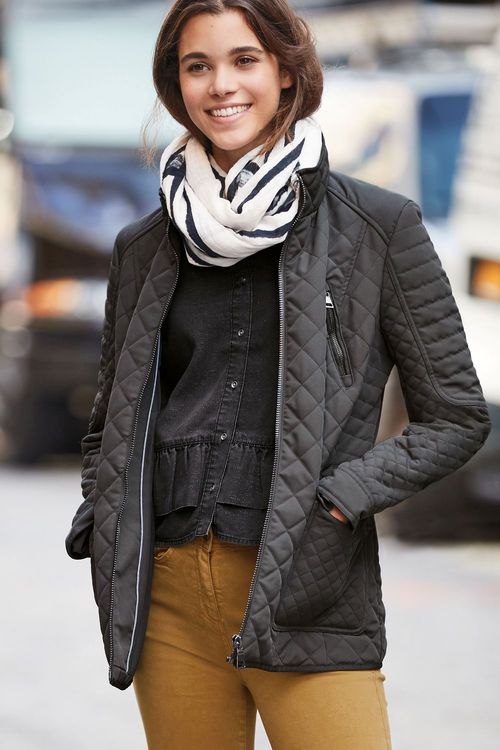 Next Charcoal Quilted Jacket
