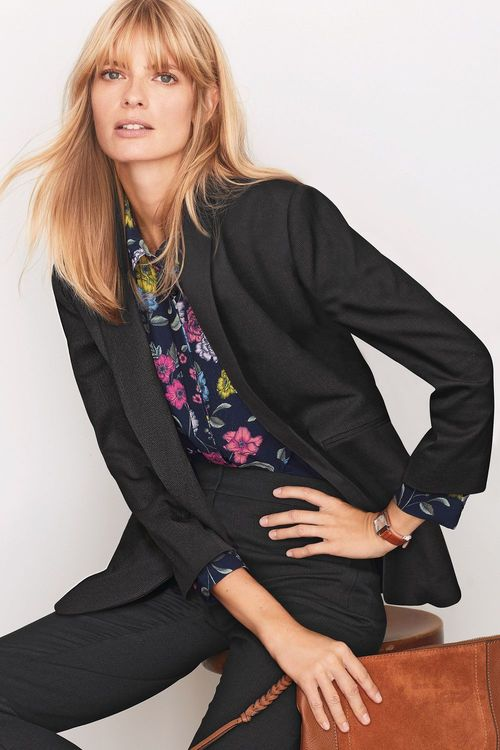 Next Textured Relaxed Blazer