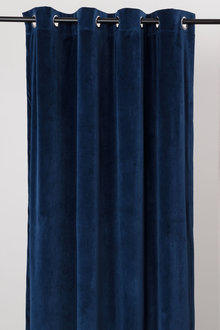 Velvet Eyelet Curtain Pair
