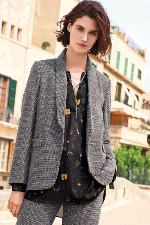 Next Textured Single Breasted Jacket - Petite