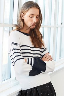 Next Stripe Sweater - Petite