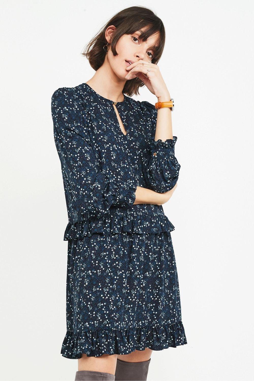 Next Long Sleeve Ruffle Hem Dress Online   Shop EziBuy