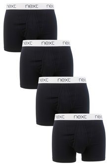 Next Waistband Black A-Fronts Four Pack