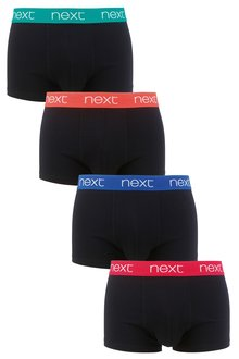 Next Black Bright Waistband Hipsters Four Pack