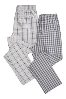 Next Check Woven Long Bottoms Two Pack