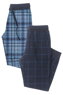 Next Check Cosy Cuffed Long Bottoms Two Pack