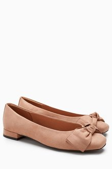 Next Patent Forever Comfort Bow Ballerinas