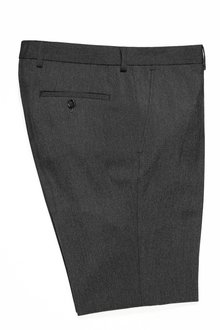 Next Charcoal Grey Regular Fit Jean Style Trousers With Stretch