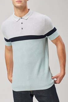 Next Colourblock Knitted Polo