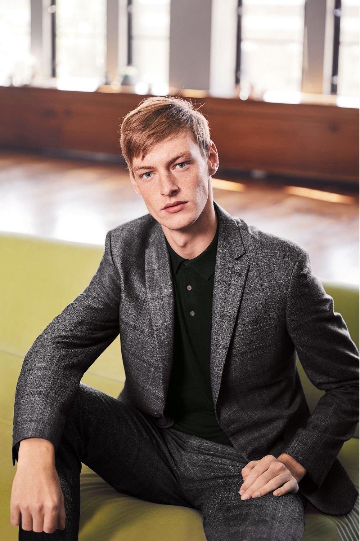 d91403be Next Textured Check Slim Fit Suit: Waistcoat Online | Shop EziBuy