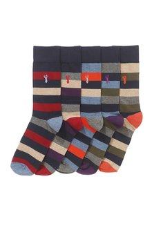 Next Stripe Stag Socks Five Pack