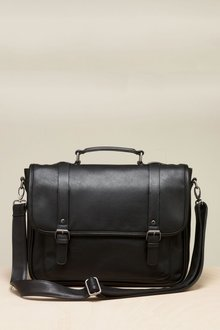 Next Black Piped Edge Briefcase