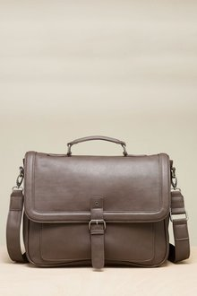 Next Brown Piped Edge Briefcase