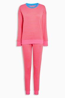 Next Cotton Stripe Jersey Pyjamas