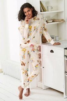 Next Floral Ruffle Pyjamas