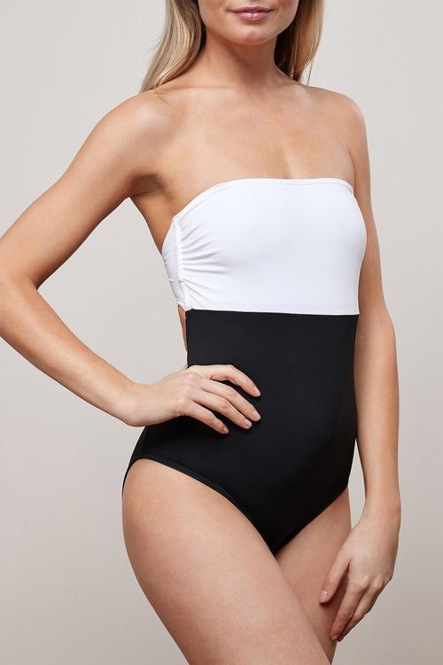 Next Monochrome Bandeau Swimsuit