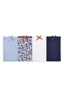 Next Blue/White Cotton Shorts Four Pack