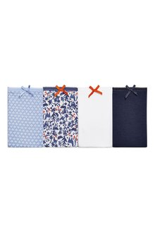 Next Blue/White Cotton Bikini Briefs Four Pack