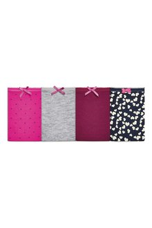 Next Heart Print Cotton Bikini Briefs Four Pack